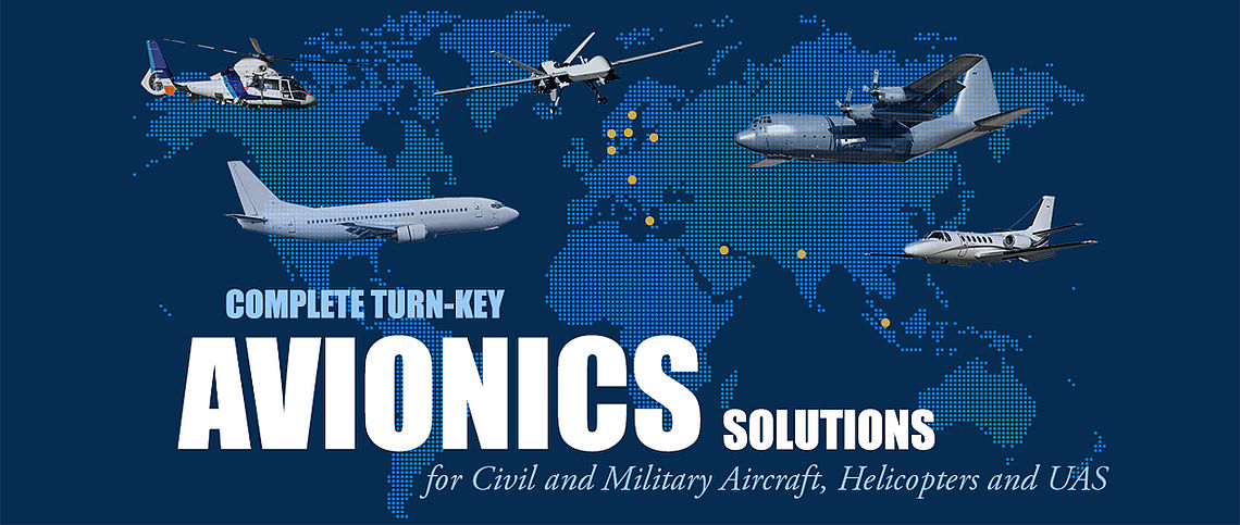 Complete Turn-Key Avionics Solutions, MRO, UAV, UAS, EFB, Electronic Flight Bag, CATI, Collision Avoidance, Tracking and ID,