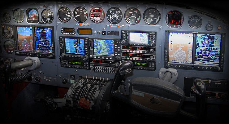 G600 EFIS on Cessna 414 -